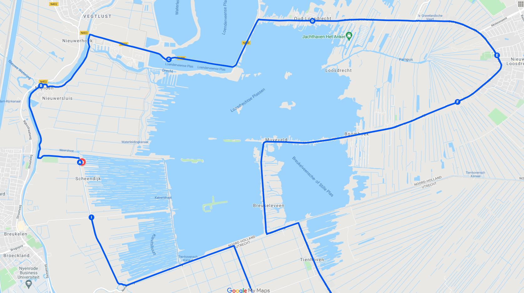 E-chopper-rijden-langs-de-Loosdrechtse-Plassen